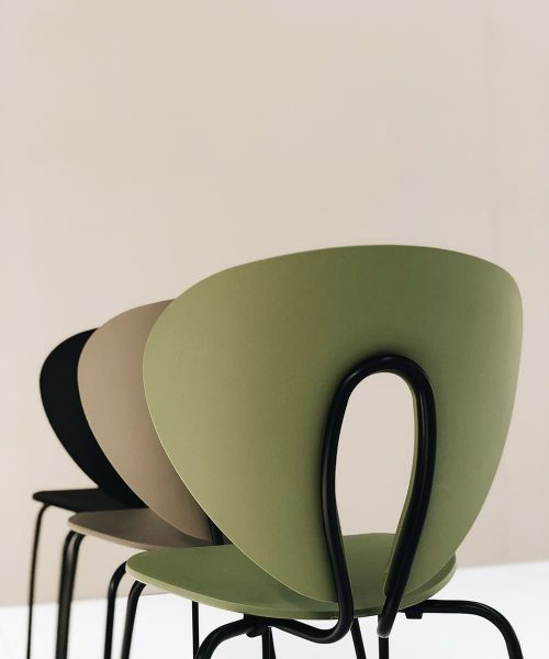 stua globus chair green taupe black