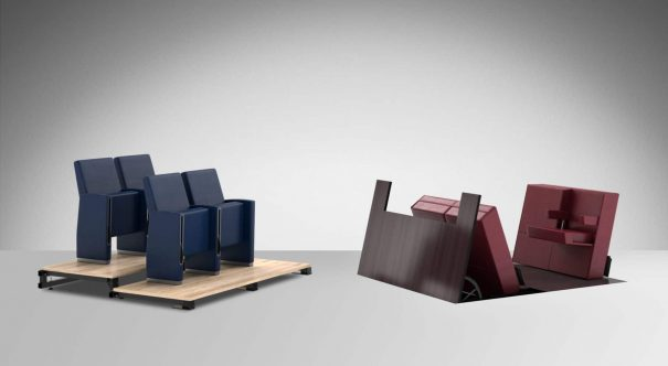 floor technology seating systems by LAMM